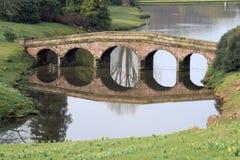 Stone Bridge. Over a lake Royalty Free Stock Photo