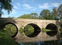 Stone Bridge. Mill Road Bridge, over the Ipswich River at the Hamilton/Ipswich line, Massachusetts royalty free stock photos