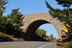 Stone Bridge. Stone arch bridge in Acadia National Park royalty free stock images