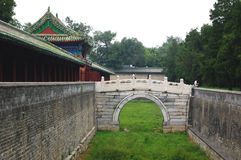 Stone bridge. The stone bridge in the Temple of Heaven Stock Photo