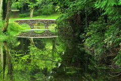Stone Bridge. A stone bridge built over a pond near Clonmel, County Tipperary, Ireland Royalty Free Stock Images
