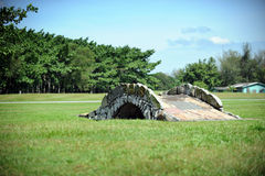 Stone Bridge. Old stone bridge on golf course royalty free stock photos