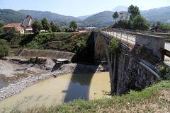 Stone bridge. Near Mojkovats in Montenegro Stock Images