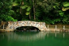 Stone bridge. A stone bridge over a downstream Royalty Free Stock Photography