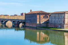 Stone Bridge across Garonne, Toulouse Royalty Free Stock Photo