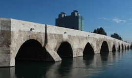 The Stone Bridge in Adana, Turkey. View of Ancient Stone Bridge in Adana, Turkey Royalty Free Stock Photo