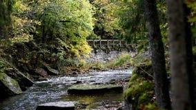 Stone bridge from afar Royalty Free Stock Image