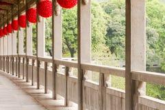 Stone  bridge  and  lantern. A stone  bridge in the beautiful park Royalty Free Stock Photography