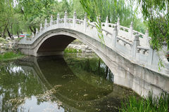 Stone bridge in Beijing Yuanmingyuan Royalty Free Stock Photography