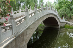 Stone bridge in Beijing Yuanmingyuan Stock Photo
