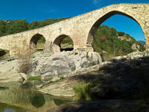 Ancient Stone Bridge With Arches Stock Photos