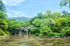 Stone Bridge at Bulguksa Stock Images