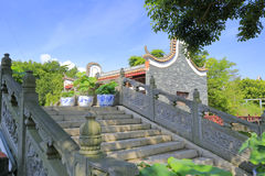 Stone bridge of chinese classical house Stock Image