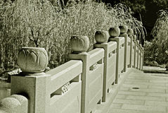 Stone bridge in Chinese garden Stock Images