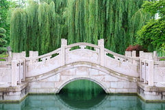 Stone bridge in city park Stock Image