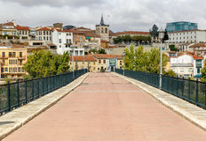 Stone bridge in the city of Zamora Stock Photography