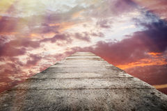 Stone bridge and colorful sky Stock Photography