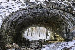 Stone bridge culvert. Stone bridge in Connecticut with culvert for stream Stock Photography