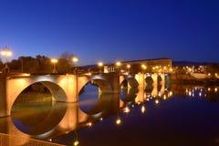 Stone bridge at dusk Royalty Free Stock Image