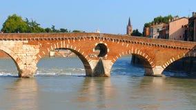 `Stone Bridge`, the famous old bridge in Verona Royalty Free Stock Photo