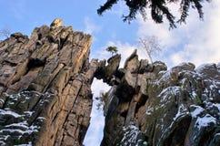 Stone bridge formation in Poland Royalty Free Stock Image