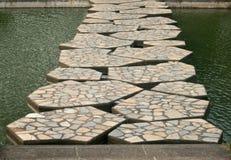 Stone bridge in garden Royalty Free Stock Photo