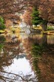 Stone bridge in  garden Stock Photography