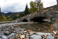 Stone bridge in Glacier NP Stock Photo