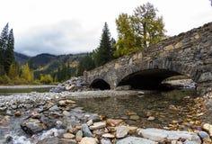 Stone bridge in Glacier NP Stock Images