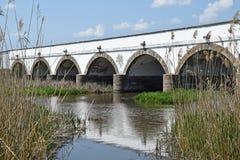Stone bridge of Hortobagy. Hungary Royalty Free Stock Photo