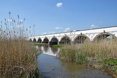 Stone bridge of Hortobagy. Hungary Stock Photography