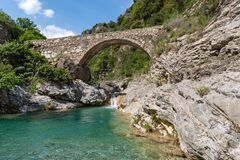 Free Stone Bridge In Mountains, Ligurian Alps, Northwestern Italy Royalty Free Stock Photography - 184706667