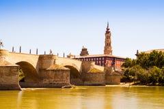 Free Stone Bridge In Zaragoza. Aragon Royalty Free Stock Images - 36681609
