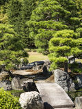Stone bridge in Japanese garden Royalty Free Stock Photo