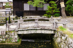 Stone bridge japanese style in kiyomizu-dera temple, kyoto, japa Royalty Free Stock Photos