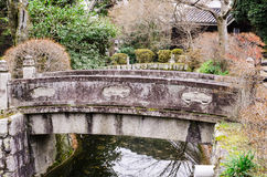 Stone bridge japanese style in kiyomizu-dera temple, Stock Photo