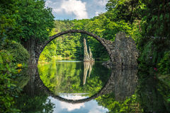 Stone bridge in kromlauer park Royalty Free Stock Photos