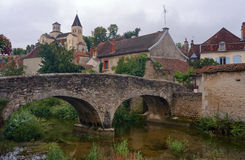 Stone bridge and medieval buildings Royalty Free Stock Photos