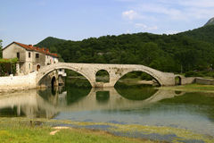 Stone bridge in montenegro Royalty Free Stock Image