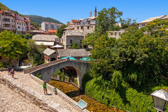 Stone Bridge in Mostar Royalty Free Stock Image