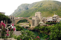 Stone bridge,  Mostar Royalty Free Stock Photo