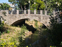 Stone bridge, Napa, California. Walk bridge over Napa Creek, Napa, California Royalty Free Stock Photos
