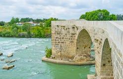 The stone bridge next to Aspendos Royalty Free Stock Photo