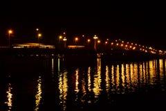 Stone bridge at night Stock Photo