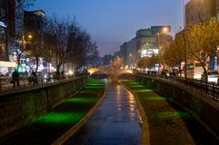 Stone bridge in night - Turkey Stock Images