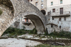Stone Bridge in old French town Royalty Free Stock Image