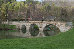 Stone Bridge. An Old Stone Bridge with Reflection Stock Photography