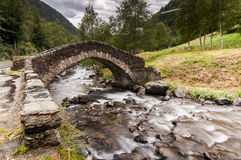 Stone bridge in Ordino Valley, Andorra, Europe. Stock Photography