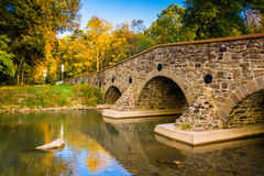 Stone bridge over a creek in Adams County, Pennsylvania. Stock Image