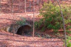Stone bridge over creek in Lullwater Park, Atlanta, USA Royalty Free Stock Photo